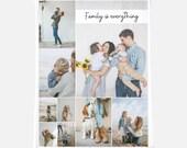 Custom Photo Blanket, Personalized Photo Blanket, Custom Picture Blanket, Photo Collage Memory Blanket Family Blanket Custom Wedding Gift