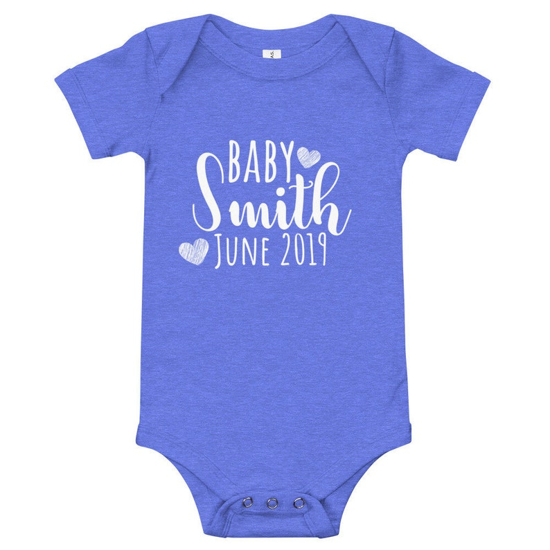 Personalized Baby Onesie Baby Announcement Onesie Baby Onesie Announcement Baby Onesie Pregnancy Reveal Pregnancy Announcement Onesie