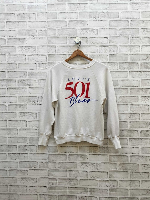 Vintage Levi's 501 Sweatshirt Levi 501 Blues Crewn