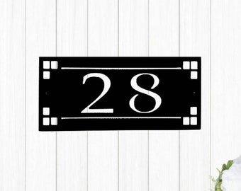 Arts And Crafts House Numbers Etsy