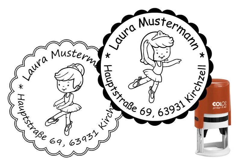 Address Stamp ballerina Stamp Colop 40 mm