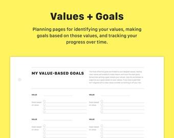 goal tracking chart etsy