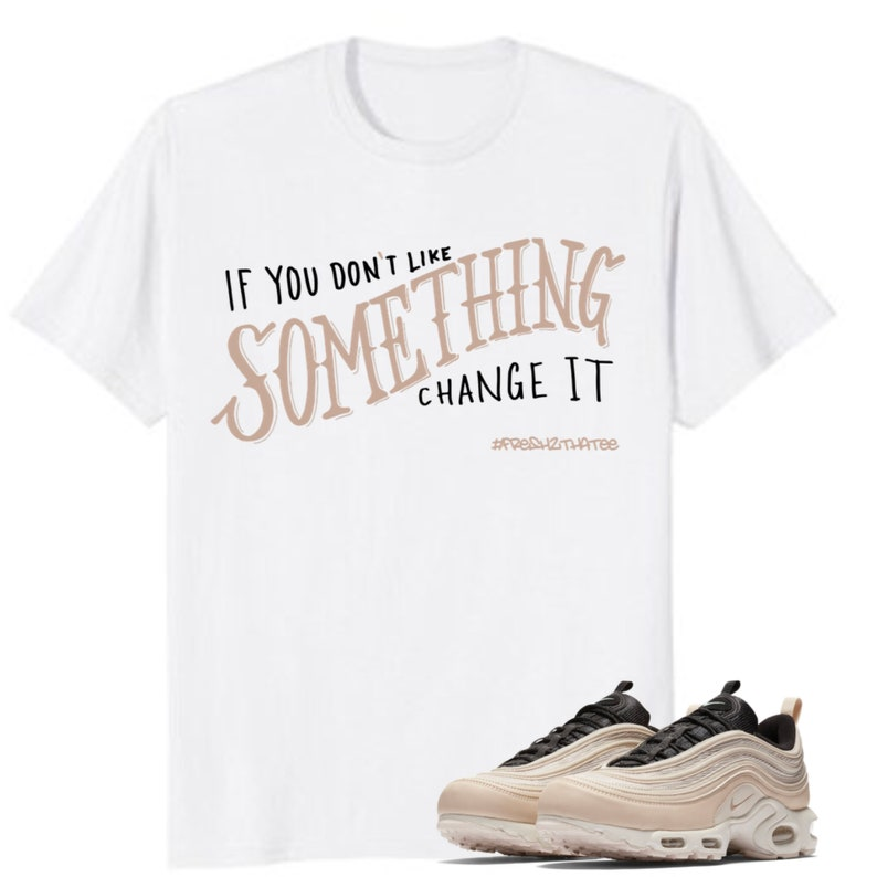 uk availability d31ff 55624 Nike Air Max Plus 97 Light Orewood Brown Shirt Change  made   Etsy