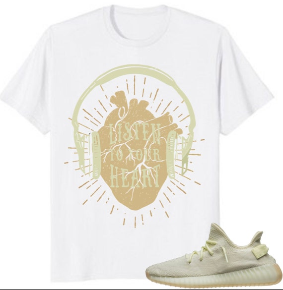 the latest 2c60d 52f4c Adidas yeezy boost 350 v2 butter shirt listen to your heart   Etsy