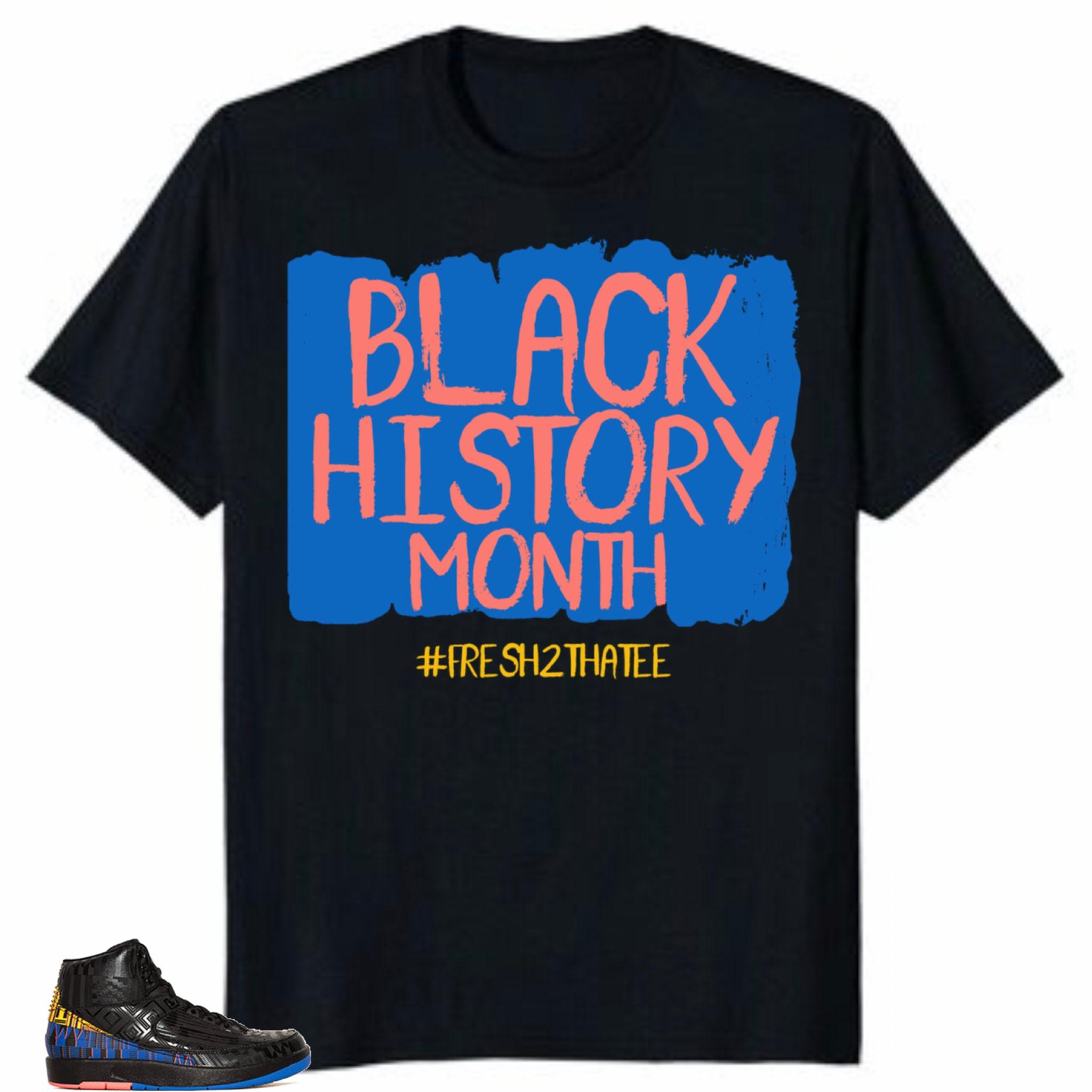 f83a32db9c03 Shirt Made to match Jordan 2 bhm black history month