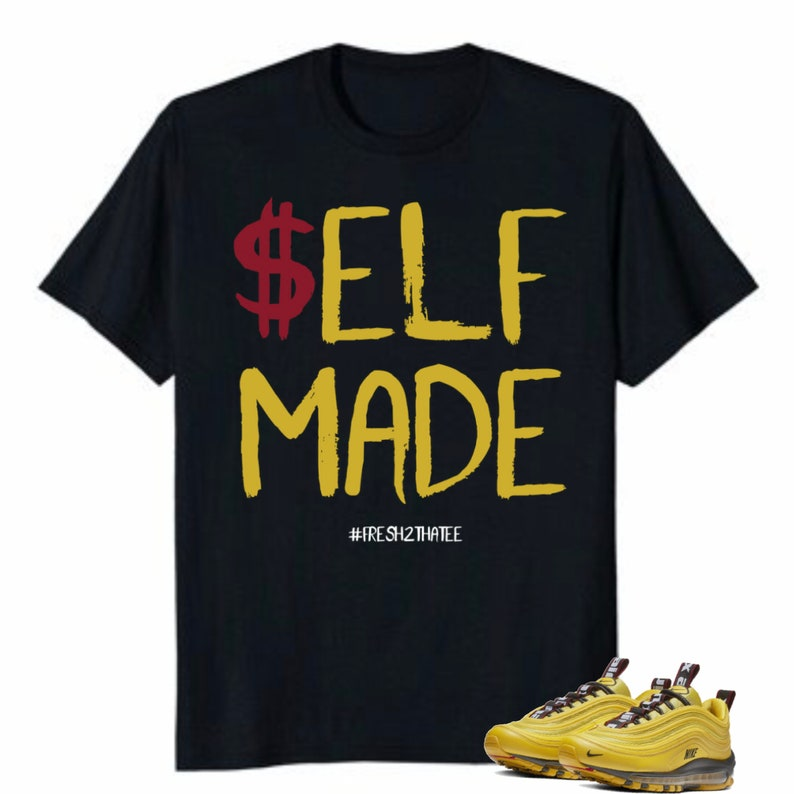 detailed pictures 504f7 d8b2c Self Made shirt   made to match Nike Air Max 97 Premium Bright   Etsy