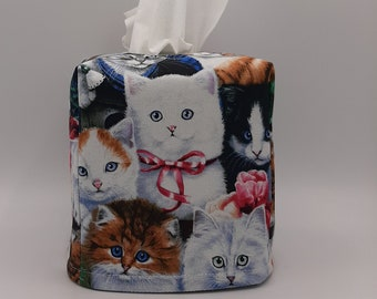 Cute Pocket Tissue Case Small Thank You Gift for Cat Lover Cat Travel Tissue Holder