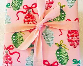 Wrapping Paper: Vintage Ornaments  {Christmas, Holiday, Gift Wrap}