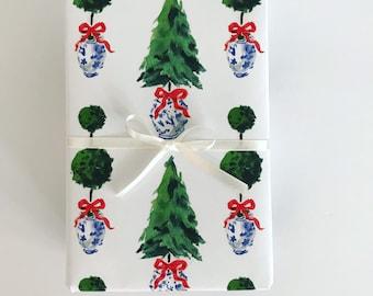 Wrapping Paper: Christmas Ginger Jars {Gift Wrap, Birthday, Holiday, Christmas}