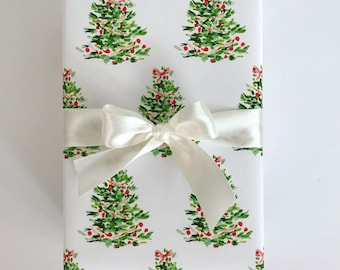 Wrapping Paper: Oh Christmas Tree {Gift Wrap, Birthday, Holiday, Christmas}