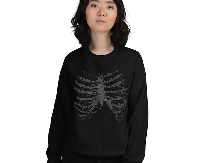 Featured listing image: Ribcage Sweater Skeleton Sweatshirt Creepy Streetwear Halloween Fashion Unisex