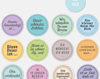 Birthday GuestBook Planner Stickers (120 pieces)