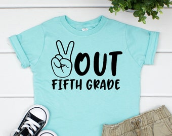 Peace Out Fifth Grade 5th Last Day Of Graduation Shirts Shirt LAS 011M