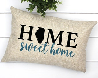 Home Sweet Home Illinois Pillow