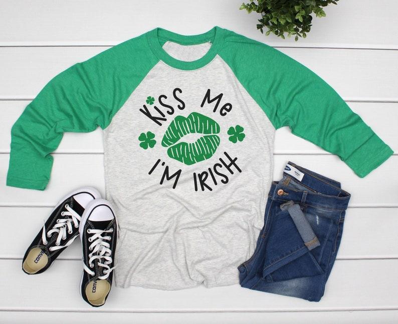 8ae0681b Kiss Me I'm Irish Womens St Patricks Day Shirt Funny St | Etsy