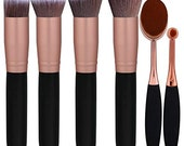 Face Foundation Powder Liquid Cream Oval Makeup Brushes Set Synthetic Makeup brushes(Pack of 6)