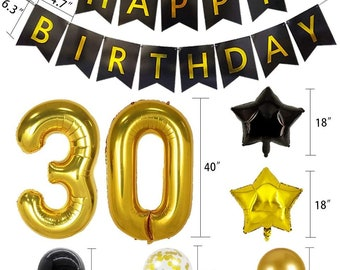 30th Birthday Decorations For Him Etsy