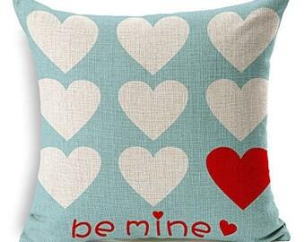 Cushion COVER 30x30 cm UNI Solid Color Cotton Canvas Pillow Case Cushion Deco