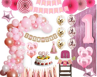 Girl 1st Birthday Decorations