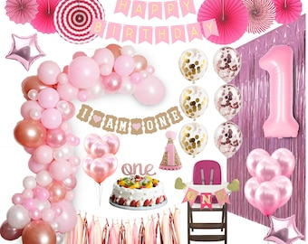 1st Birthday Decorations Girl