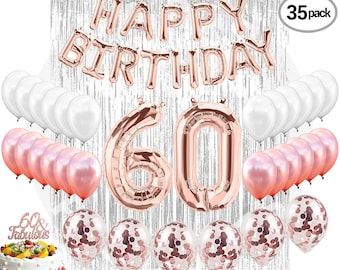 60th Birthday Decorations Etsy