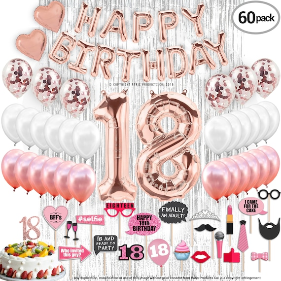 18th Birthday Decorations Party Supplies 18 Cake