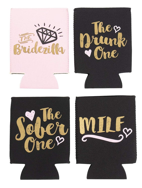 2.5 x 2.5 x 4.2 Inches 12-Pack Bridal Shower Can Covers Drink Holder with Insulated Covers Beer Sleeve 12 Bachelorette Party Designs Can Beverage 12-Ounce Neoprene Coolers for Soda Beer