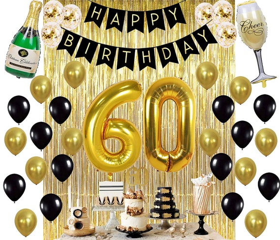 FEMALE AGE 60 60th  BIRTHDAY FOIL BALLOON DISPLAY-TABLE CENTREPIECE MALE