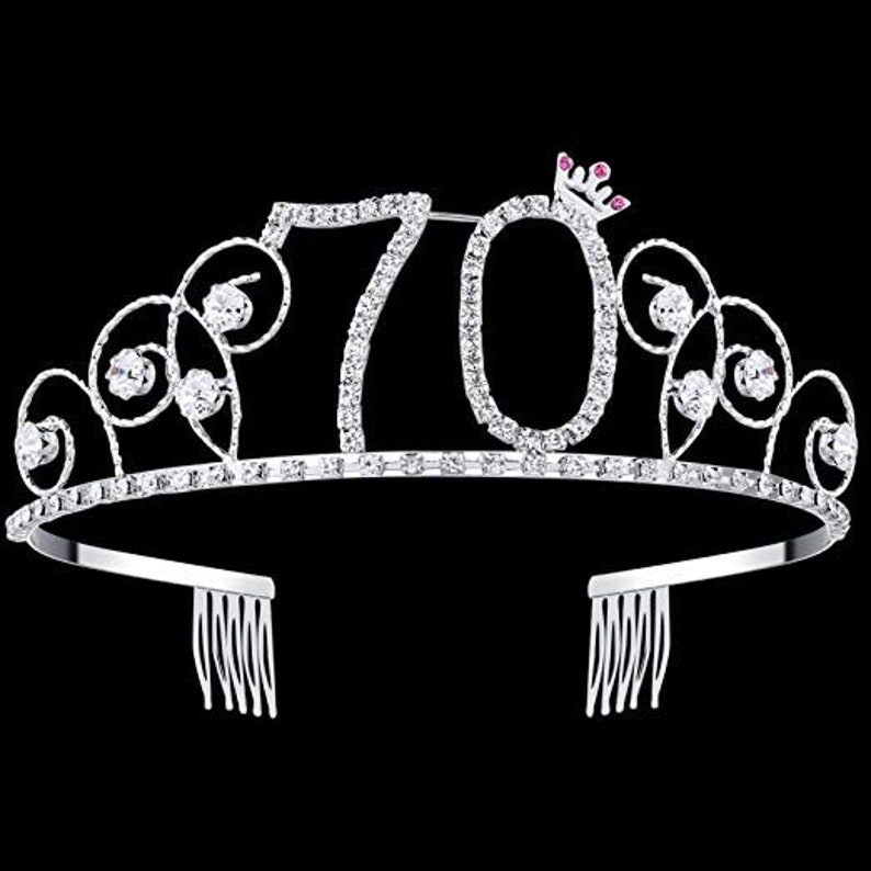 70th Birthday Party Decorations Supplies Crystal Tiara