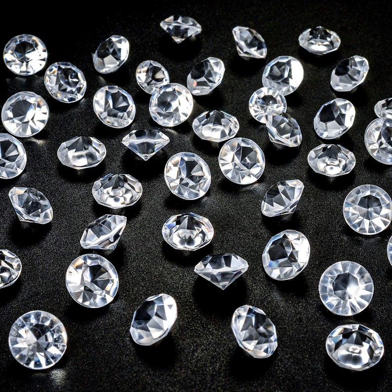 Graduations 1 Carat 6mm Clear Bingcute 2000 6mm Diamond Table Confetti For Wedding Bridal Shower Party Decorations Birthdays