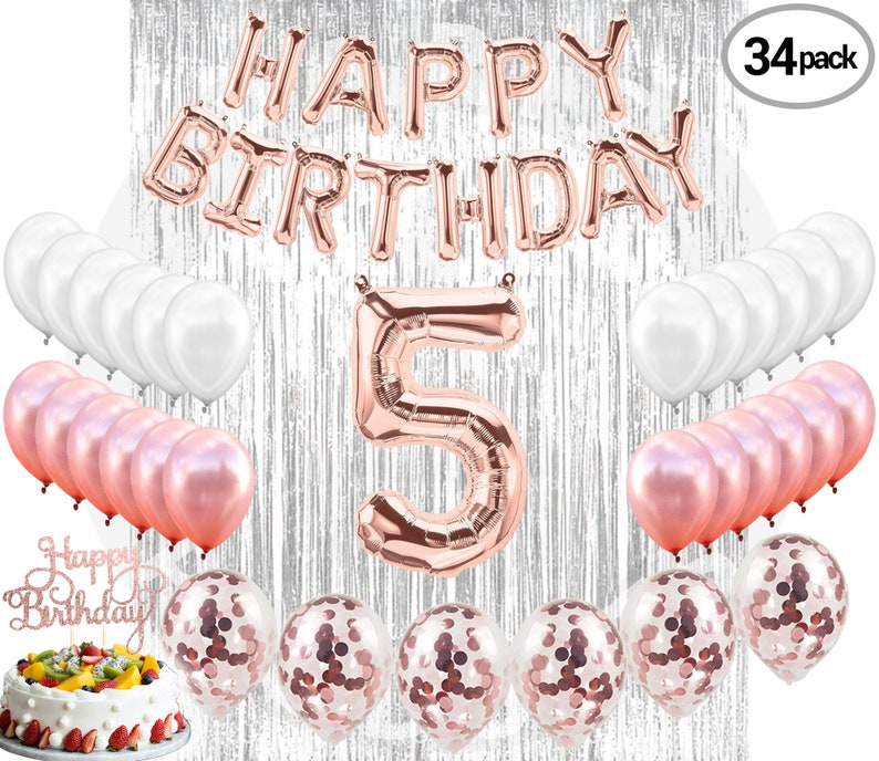 5th Birthday Decorations5 Party Supplies Five
