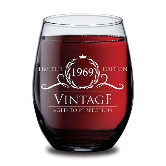 1966 Time Capsule 50th Birthday Gift For Men Or Women: 1969 50th Birthday Gifts Women Men Wine Glass Vintage
