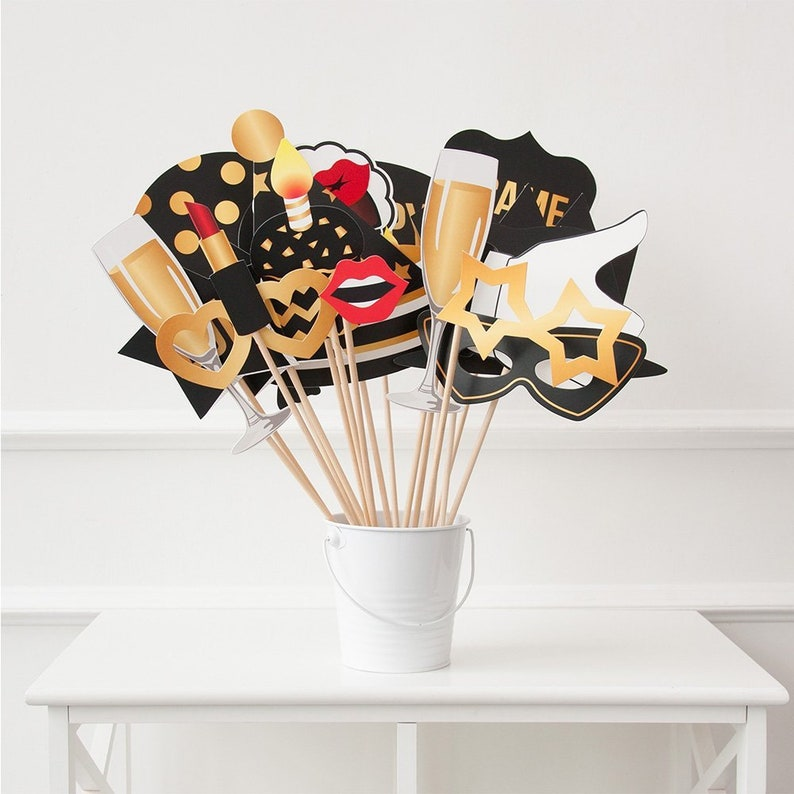 50 25th Birthday Photo Booth Props Party Decoration Supplies Him