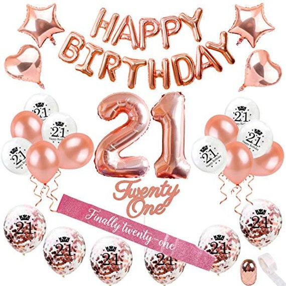 21st Birthday Decorations 21 Party Supplies Cake