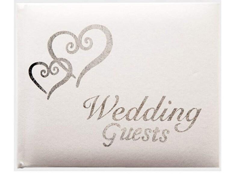 Linked Hearts Wedding Guest Book Silver Wedding Reception