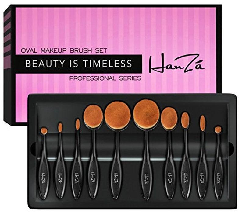 64c58c14af Makeup Brushes 10 PIECE Professional Oval Makeup Brush Sets | Etsy