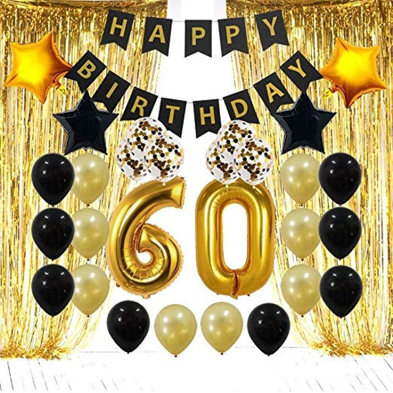 60th Birthday Decorations Party Supplies 60 Fabulous Banner