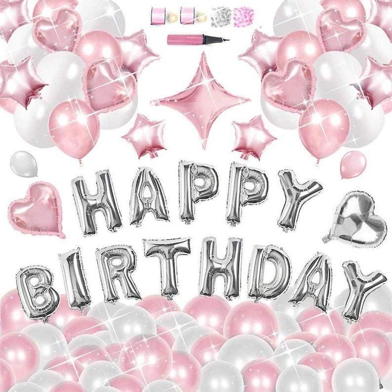 Happy Birthday Balloons Decorations Set 130pc Latex