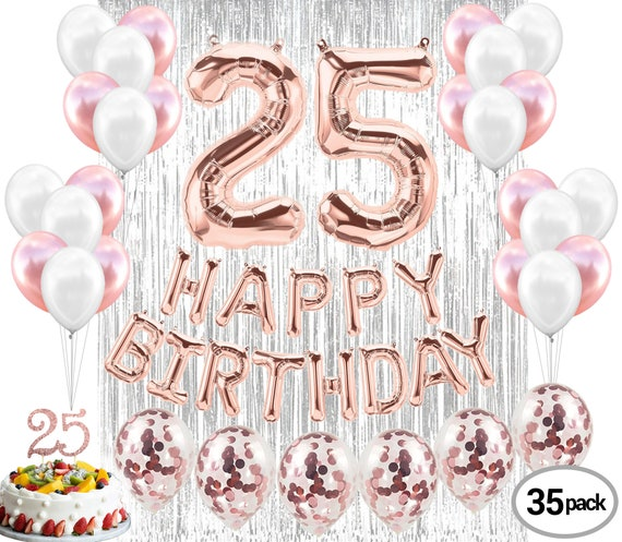 25th Birthday Decorations Party Supplies Balloons