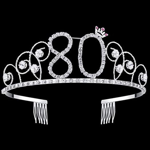 80th Birthday Party Decorations Supplies Crystal Tiara