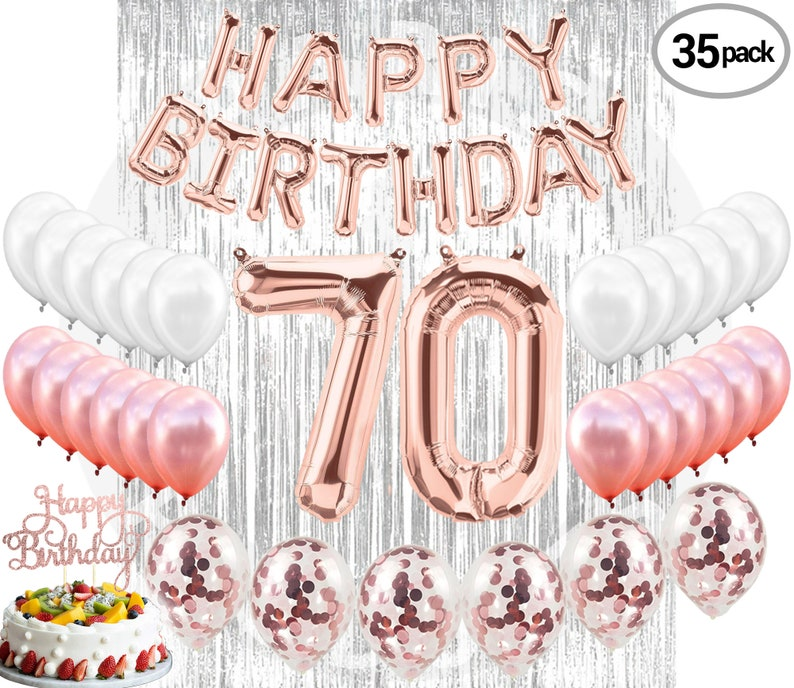 70th Birthday Decorations Party Supplies