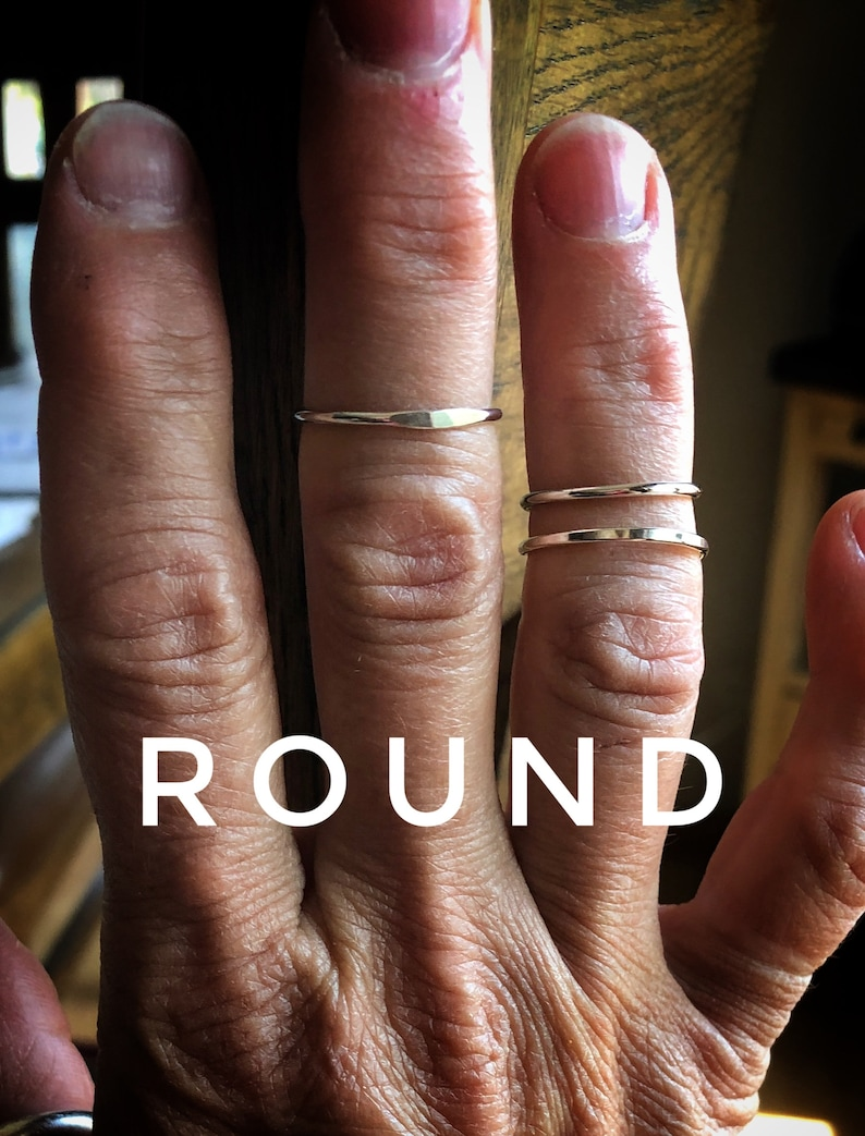 buyer/'s choice Midi midi chevron or round band ; girlfriend gift; friend gift; gift for woman birthday gift midi ring; sterling silver