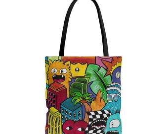 385e902b90af Colorful Tote Bag Original Art Gift Custom Gift Street Art Bag Original Art  Bag Gift For A Girl