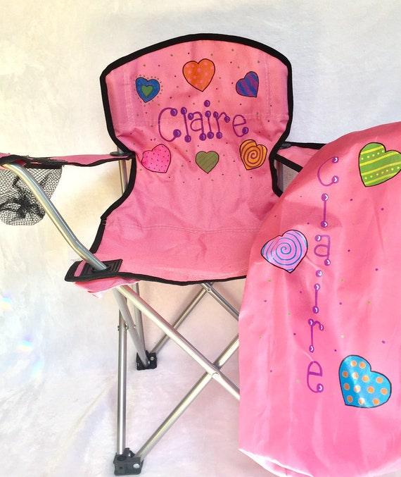 Remarkable Personalized Handpainted Kids Sport Chair Monogrammed Kids Folding Chair Kids Camping Chair Personalized Outdoor Chair Toddler Chair Pdpeps Interior Chair Design Pdpepsorg