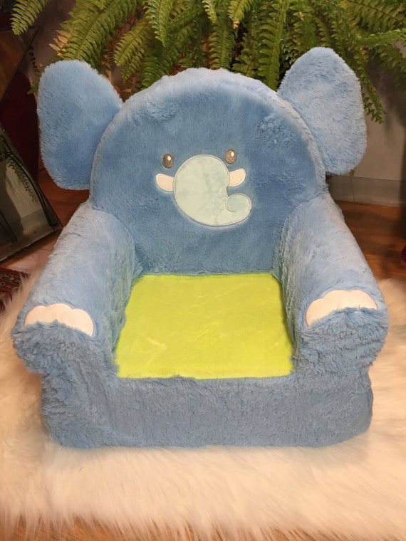 Personalized Kids Chair, Monogrammed Kids Chair, Kids Lounge Chair, Toddler  Chair, Plush Chair, Elephant Chair