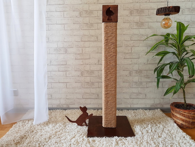 Tall Wooden Cat Tree Furniture For Big Cat Rustic Cat Tree Cat Tree Wood Modern Cat Tree Wooden Cat Scratching Post Tall Cat Scratcher