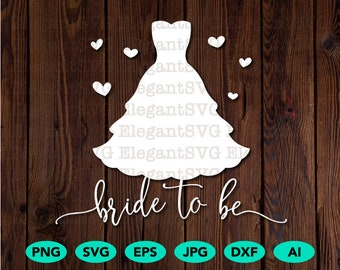 Wedding dress svg
