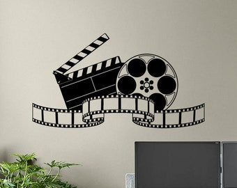 Wall Stickers Popcorn Cinema Movie Smashed Decal Poster 3D Art Vinyl Room H216