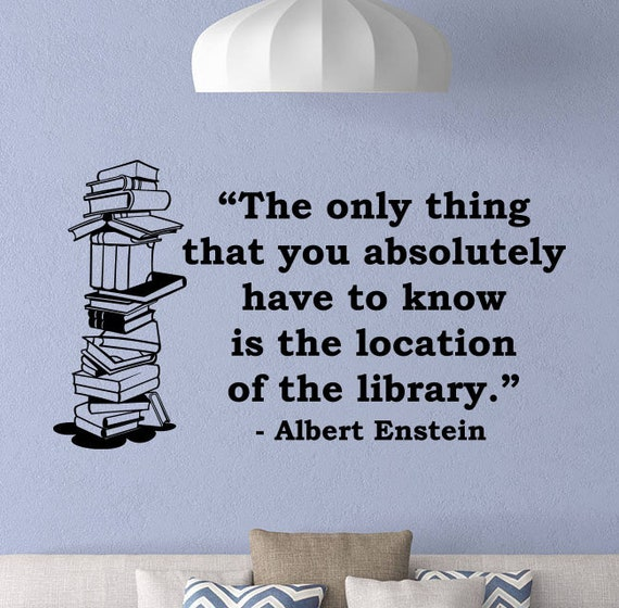 Albert Einstein Quotes Wall Decal Book Wall Decal Education Etsy