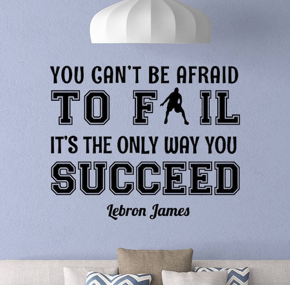 Lebron James basketball quote wall decal sticker sports